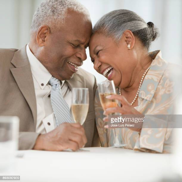 Senior Couple smiling and laughing