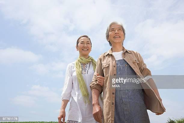 Senior couple standing