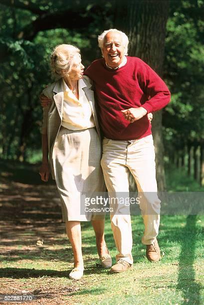 Senior Couple Taking Stroll