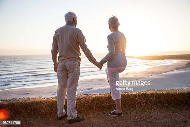 Senior couple together at beach