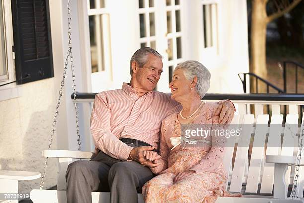 Senior Couple Together on Their Porch