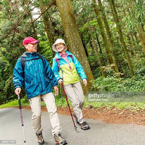Senior Couple Trekking