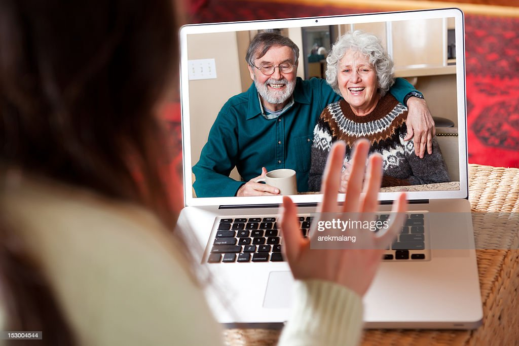Senior couple video conference : Stock Photo