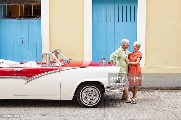 Senior couple visiting Cuba
