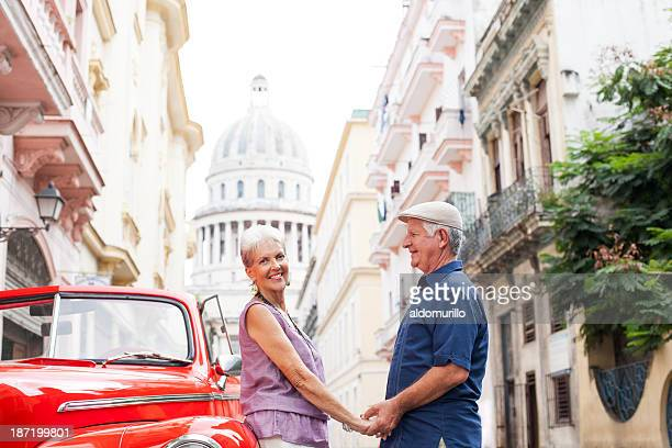 Senior couple visiting Cuba