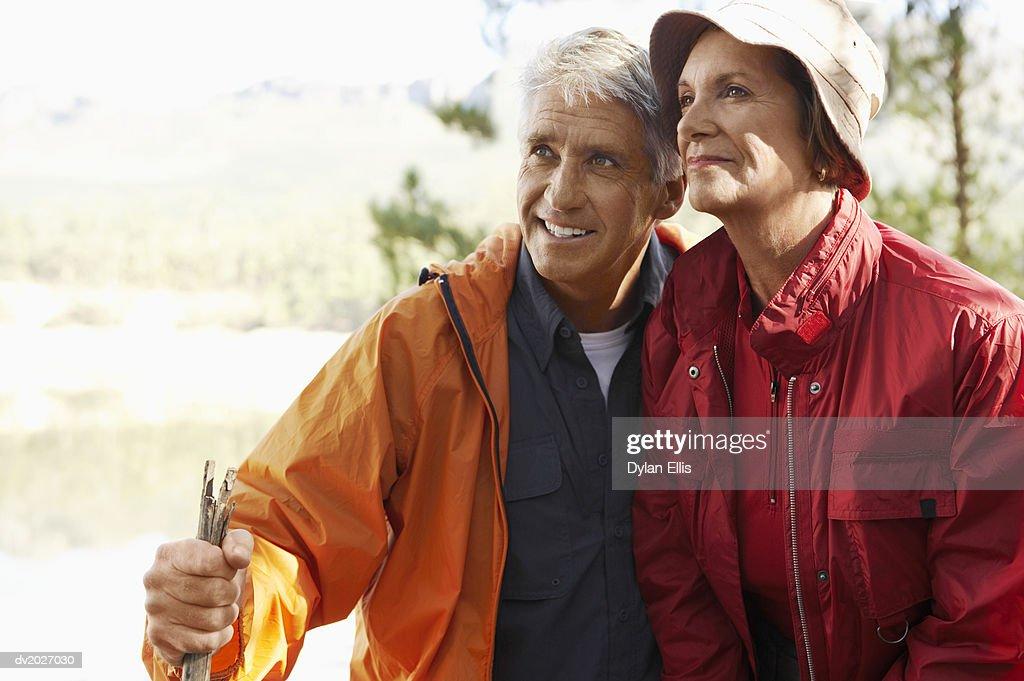 Senior Couple Wearing Hiking Clothing : Stock Photo