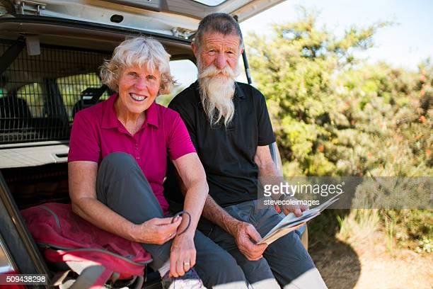 Senior Couple with Car