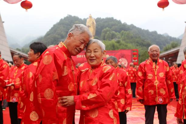 86 Old Couples Attend Group Wedding In Luoyang Photos and Images ...