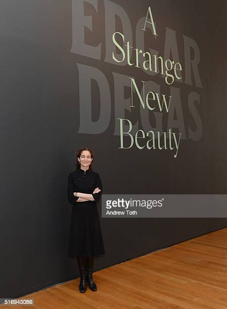 Senior Curator of Drawings and Prints Jodi Hauptman attends the Edgar Degas A Strange New Beauty exhibition press preview at Museum of Modern Art on...