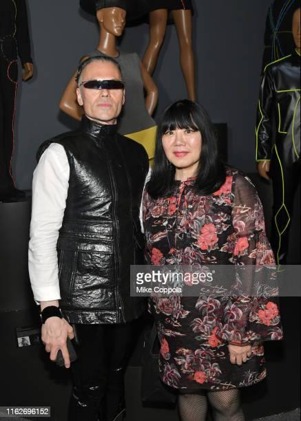 Senior CuratorFashion and Material Culture for Brooklyn Museum Matthew Yokobosky and Fashion designer Anna Sui attend Pierre Cardin Future Fashion...
