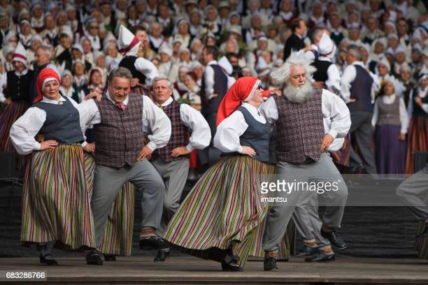 senior dancers - latvia stock pictures, royalty-free photos & images