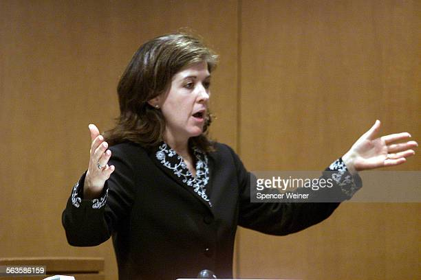 Senior Deputy District Attorney Maeve Fox makes the opening statements in Ventura County Superior Court in Ventura Ca in the rape trial of Max Factor...