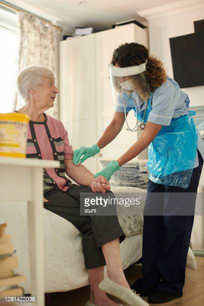 senior diabetic care - essential services stock pictures, royalty-free photos & images