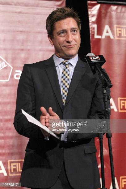 Senior Director of Film Independent Sean McManus speaks onstage at the 2011 Los Angeles Film Festival opening night premiere of Bernie held at Regal...