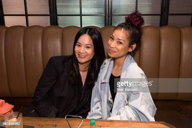 Senior director of marketing at Remy Martin ThuyAnh J Nguyen and Miyoko Chilombo attend a party hosted by CAA Remy Martin at Luchini on June 21 2018...