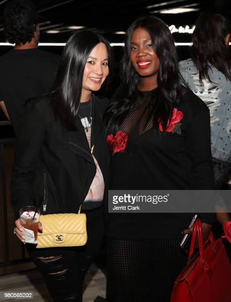 Senior Director of Marketing at Remy Martin ThuyAnh J Nguyen and Phylicia Fant SVP of publicity lifestyle at Warner Bros Records attend CAA's BET...