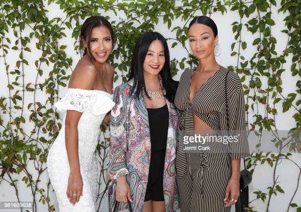 Senior Director of Marketing at Remy Martin ThuyAnh J Nguyen poses with Julissa Bermudez and Draya Michele at Culture Creators Leaders and Innovators...