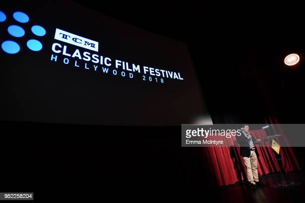 Senior Director of Marketing Turner Classic Movies and FilmStruck Steve Denker speaks onstage at the screening of 'Three Smart Girls' during Day 2 of...