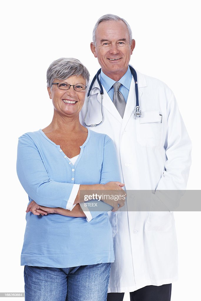 Senior doctor with woman : Stock Photo