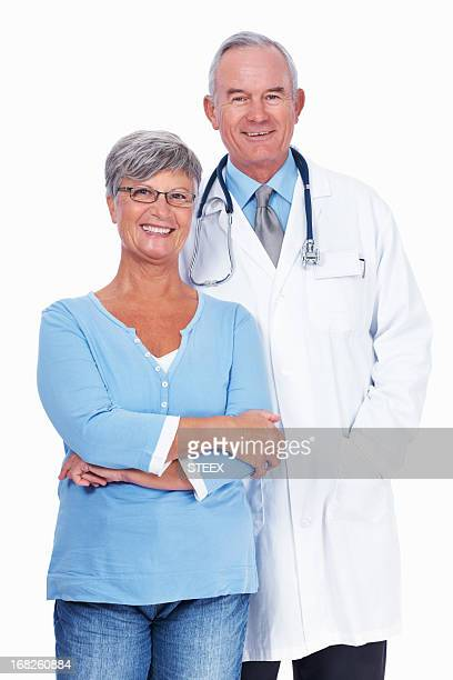 Senior doctor with woman