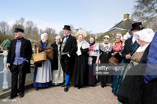 senior dutch people with traditional clothes - 18th century stock pictures, royalty-free photos & images