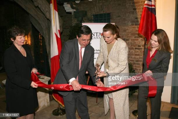 Senior Economic Officer Chantal Ramsay, Consul General Alain Dudoit, Minister Sandra Pupatello and Commerical Officer Alana Wagner