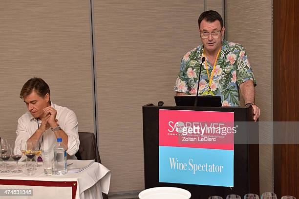 Senior editor and tasting director of Wine Spectator Bruce Sanderson speaks at Wine Spectator Wine Seminar From Spring Mountain To The Andes A...
