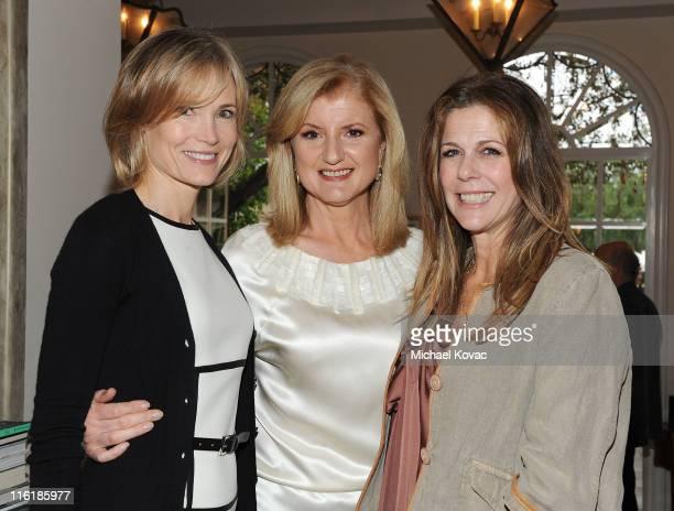 Senior Editor of The Huffington Post Willow Bay editorinchief of The Huffington Post Media Group Arianna Huffington and actress Rita Wilson attend...