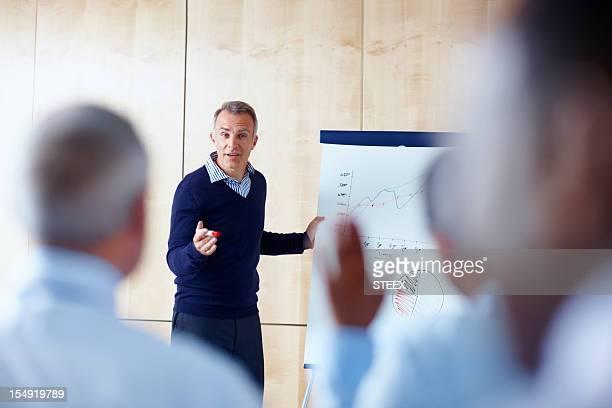 Senior executive-Präsentationen vor Gruppen