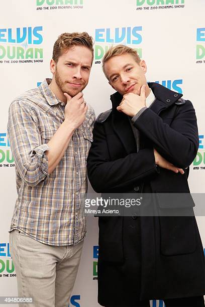 Senior executive producer of the Elvis Duran and the Morning Show Nate Marino and record producer Diplo visit The Elvis Duran Z100 Morning Show at...
