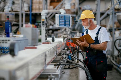 Senior factory worker 1080198048