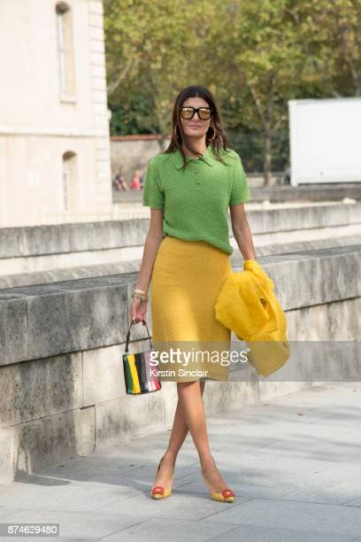 Senior Fashion Editor at Vogue Japan Giovanna Battaglia Engelbert wears a Prada jacket skirt and top Sara Battaglia bag and Manolo Blahnik shoes day...