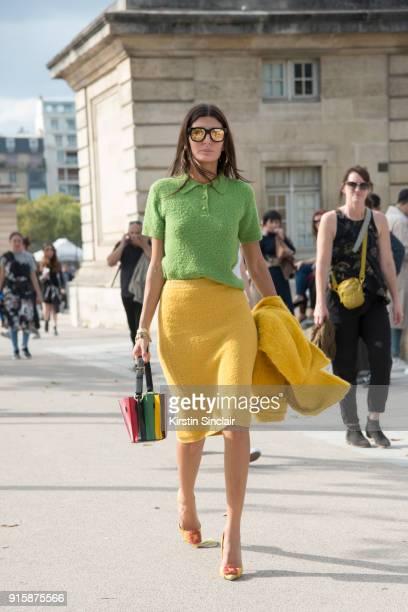Senior Fashion Editor at Vogue Japan Giovanna Battaglia Engelbert wears a Prada jacket skirt and top Sara Battaglia bag and Manolo Blahnik shoes day...
