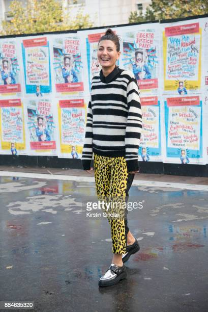 Senior Fashion Editor at Vogue Japan Giovanna Battaglia Engelbert wears Junya Watanabe trousers The Elder Statesman sweater and Tods shoes day 5 of...