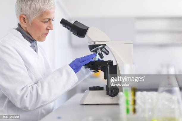 Senior female scientist working in laboratory