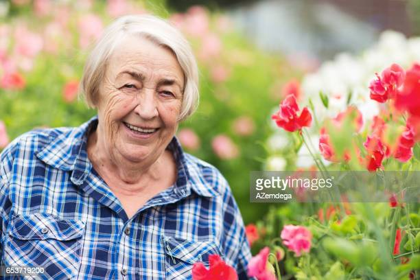 Senior flower grower