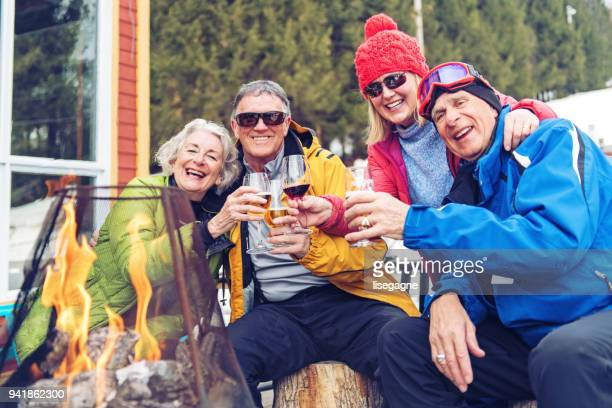 Senior Friends during a ski day