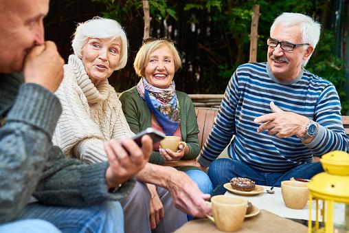 Senior Friends Enjoying Time Outdoors 942161842