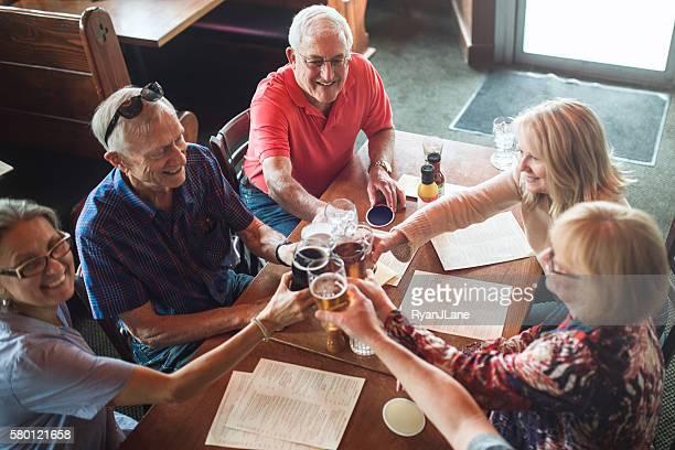 Senior Friends Happy Hour