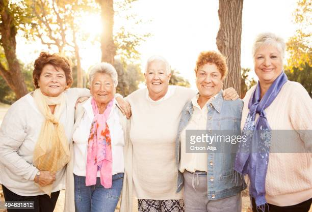 Senior Friends having fun in the park