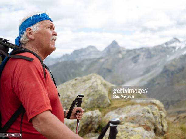 senior gent looking into the distance - austria stock pictures, royalty-free photos & images