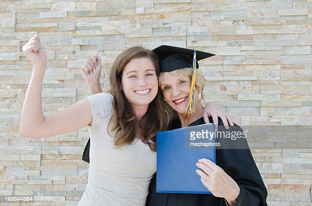 Senior graduação com a família
