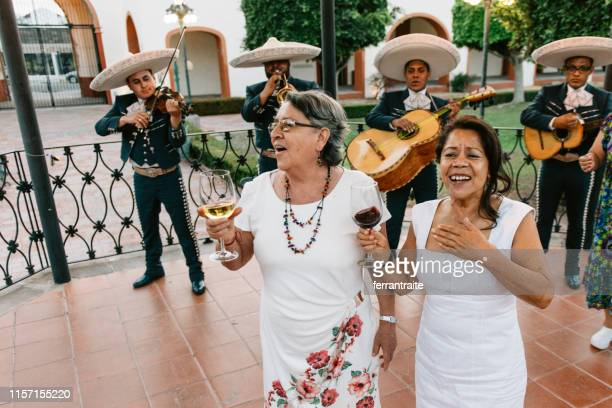 senior group reunion celebration in mexico - happy cinco de mayo stock pictures, royalty-free photos & images