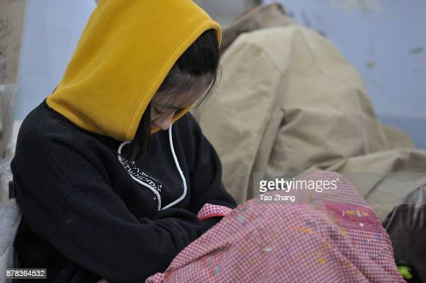 Senior high school students sleep at a training institute in Harbin China's Heilongjiang province on November 24 2017 Art colleges in China make...