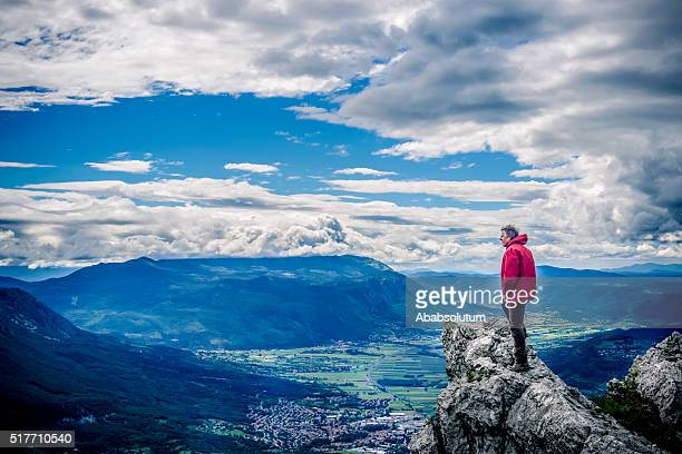 Senior Hiker in Julian Alps, Slovenia, Europe, Europe