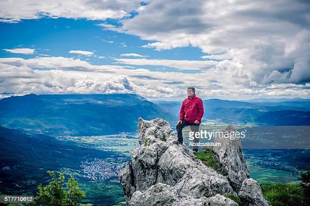 Senior Hiker in Julian Alps, Slovenia, Europe, Europe