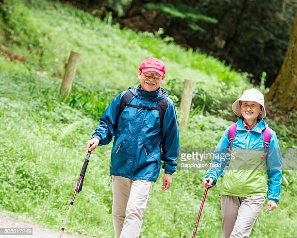 Senior Hikers Walking Together