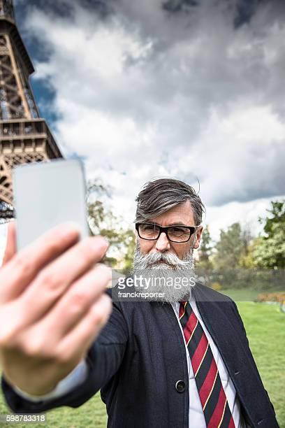 Retrato de homem de negócios Senior hipster
