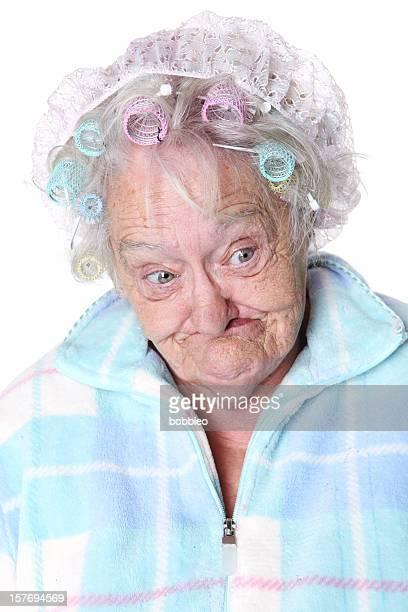 Senior Humor: woman making gurning faces