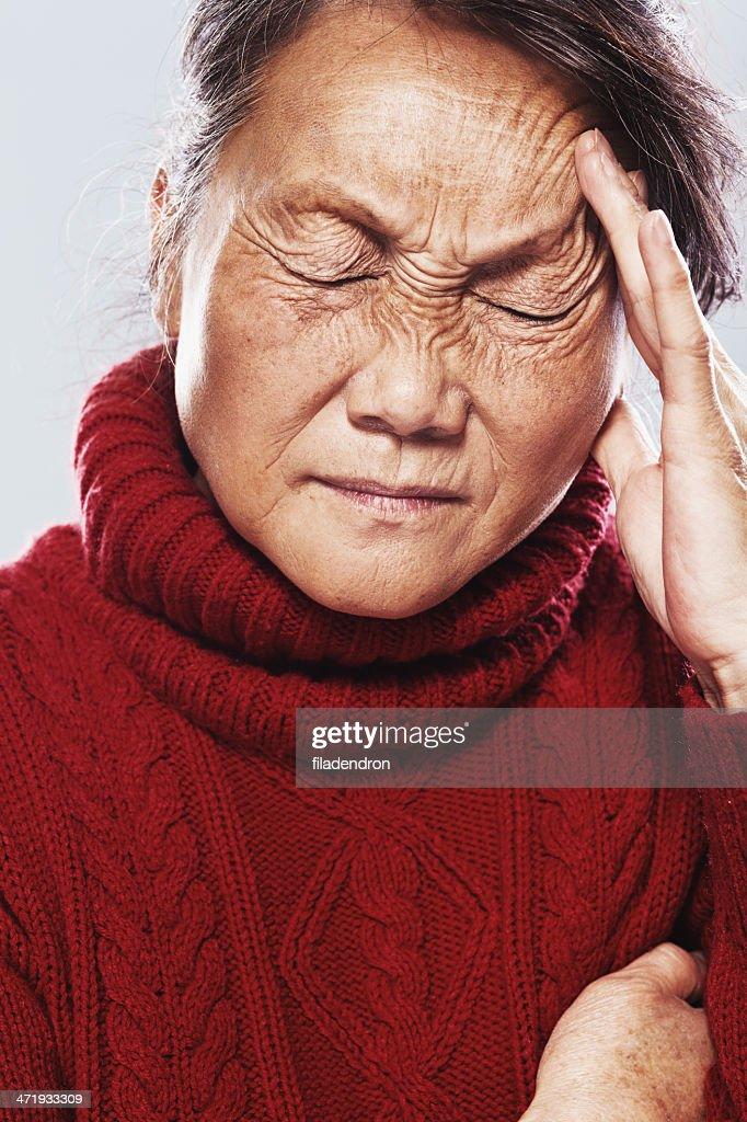 senior in pain : Stock Photo